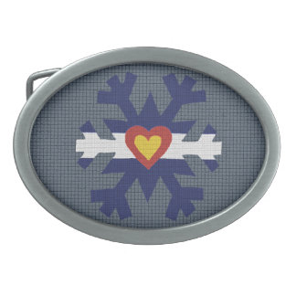 I corazón Colorado, hebilla del cinturón del copo  Hebilla De Cinturón Oval
