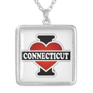 I corazón Connecticut Colgante Cuadrado