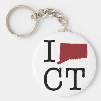 I corazón Connecticut Llaveros