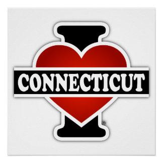 I corazón Connecticut Perfect Poster