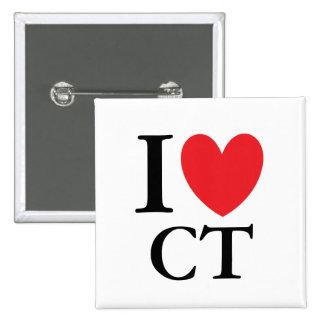 I corazón Connecticut Pin