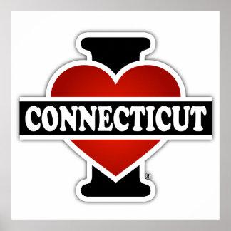 I corazón Connecticut Póster
