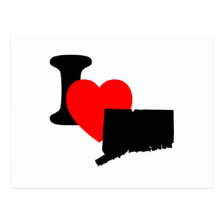 I corazón Connecticut Postal