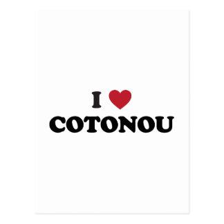 I corazón Cotonú Benin Tarjeta Postal