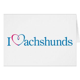 I corazón Dachunds Felicitación