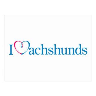 I corazón Dachunds Postal