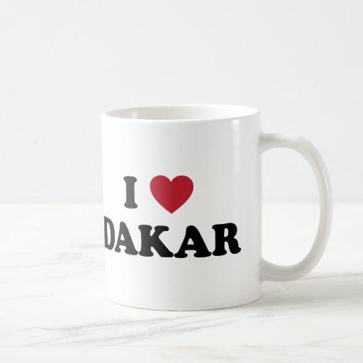 I corazón Dakar Senegal Tazas
