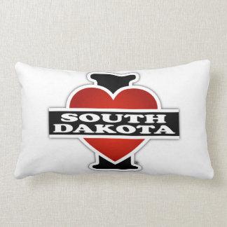 I corazón Dakota del Sur Cojín Lumbar