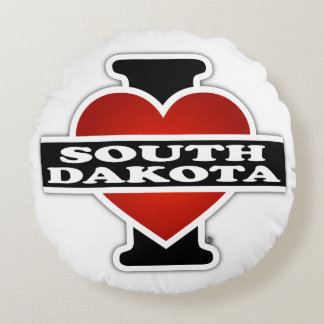 I corazón Dakota del Sur Cojín Redondo