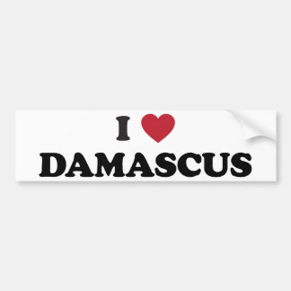 I corazón Damasco Siria Pegatina De Parachoque