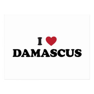 I corazón Damasco Siria Postal