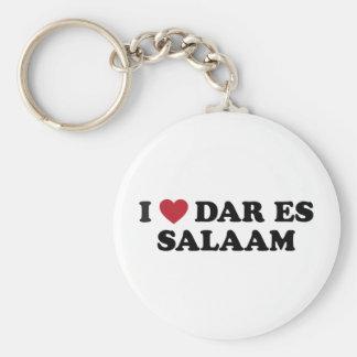 I corazón Dar es Salaam Tanzania Llavero Redondo Tipo Pin