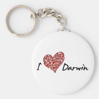 I corazón Darwin Llavero Redondo Tipo Pin