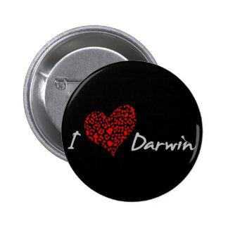 I corazón Darwin Pin Redondo De 2 Pulgadas
