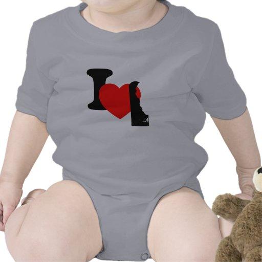I corazón Delaware Traje De Bebé