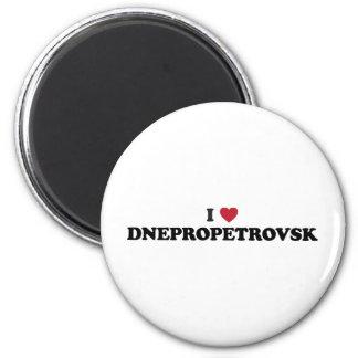 I corazón Dnipropetrovsk Ucrania Imán Para Frigorífico