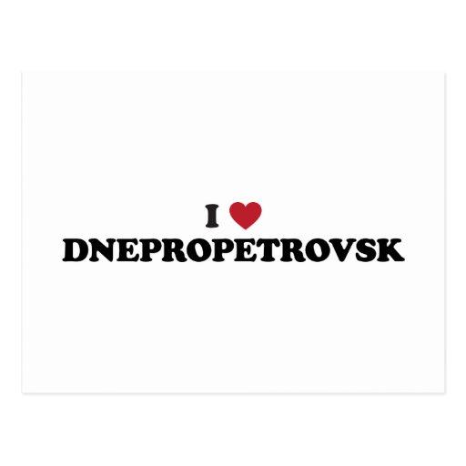 I corazón Dnipropetrovsk Ucrania Postal