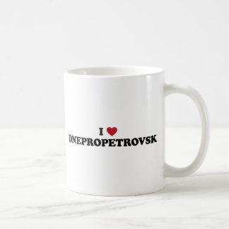 I corazón Dnipropetrovsk Ucrania Taza