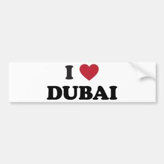 I corazón Dubai United Arab Emirates Etiqueta De Parachoque