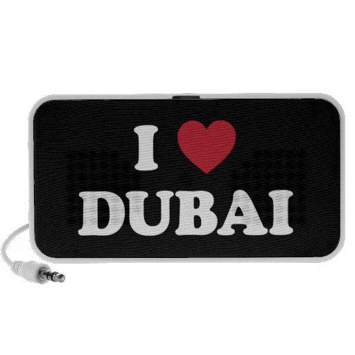 I corazón Dubai United Arab Emirates Laptop Altavoz