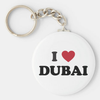 I corazón Dubai United Arab Emirates Llavero Redondo Tipo Pin