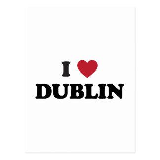 I corazón Dublín Irlanda Postal