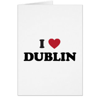 I corazón Dublín Irlanda Tarjeta De Felicitación