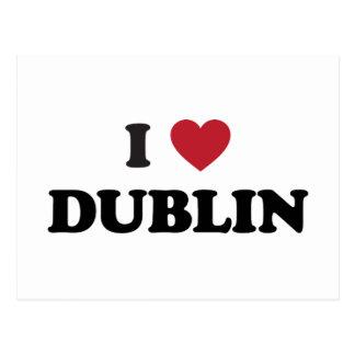 I corazón Dublín Irlanda Tarjeta Postal