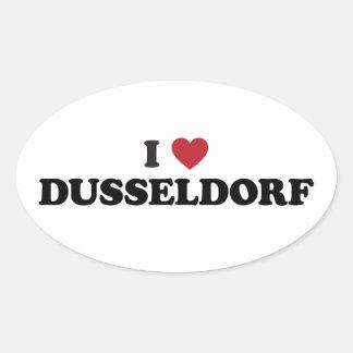 I corazón Düsseldorf Alemania Pegatina Ovalada