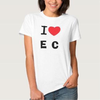 I corazón, E, C Camisas