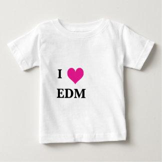 I corazón EDM Playera De Bebé