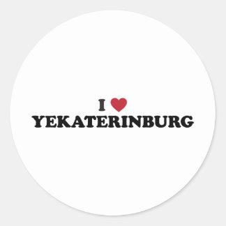 I corazón Ekaterimburgo Rusia Pegatina Redonda