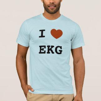 I corazón EKG Playera