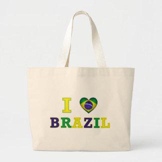 I corazón el Brasil Bolsa Tela Grande