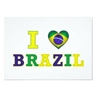 """I corazón el Brasil Invitación 5"""" X 7"""""""