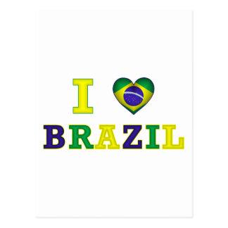 I corazón el Brasil Postal