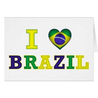 I corazón el Brasil Tarjeta De Felicitación