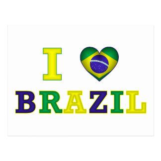 I corazón el Brasil Tarjetas Postales