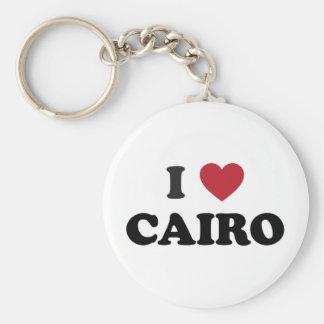 I corazón El Cairo Egipto Llavero Redondo Tipo Pin