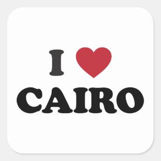 I corazón El Cairo Egipto Pegatina Cuadrada