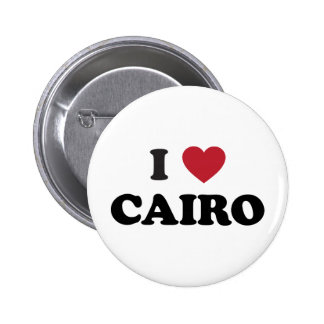 I corazón El Cairo Egipto Pin Redondo De 2 Pulgadas
