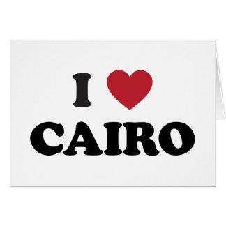 I corazón El Cairo Egipto Tarjeta De Felicitación