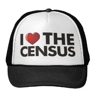 I corazón el censo gorra