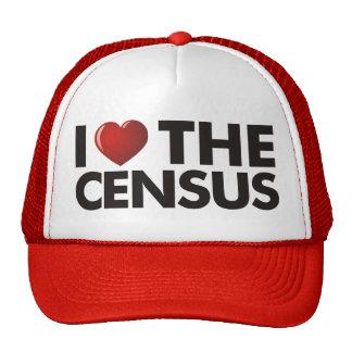I corazón el censo gorras