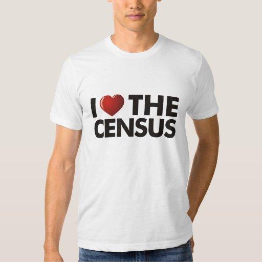 I corazón el censo playeras