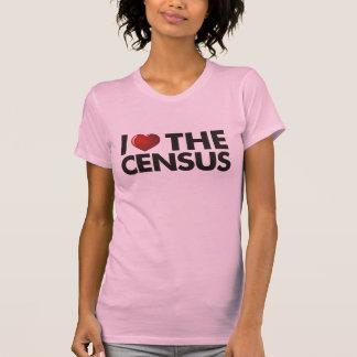 I corazón el censo remeras