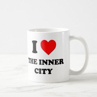 I corazón el centro urbano taza