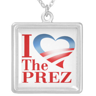 I corazón el collar de Prez (blanco)