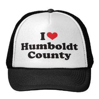I corazón el condado de Humboldt Gorras