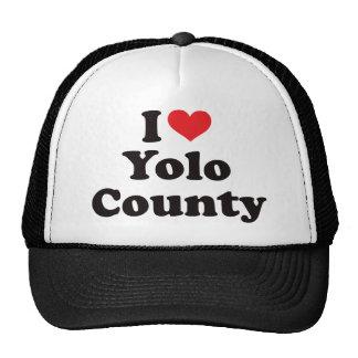 I corazón el condado de Yolo Gorras